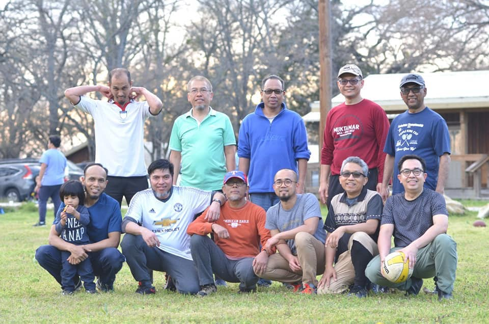 Muslim Family Camping Texas